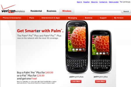 Palm Pre Plus now $50 for two in US