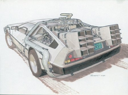 Back To The Future II concept drawings