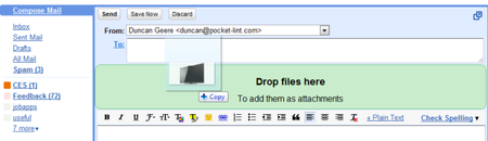 Gmail gets drag'n'drop attachments
