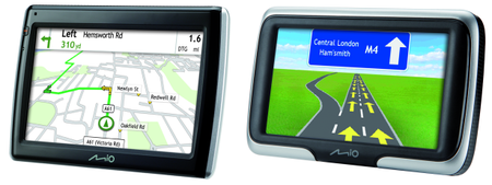 Mio release Navman 470, 475, and 575 GPS units