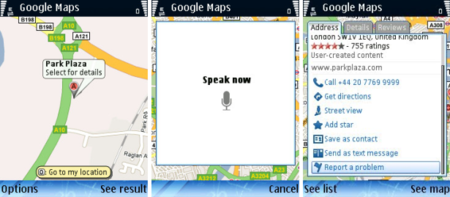 Symbian, WinMo get Google Maps voice search