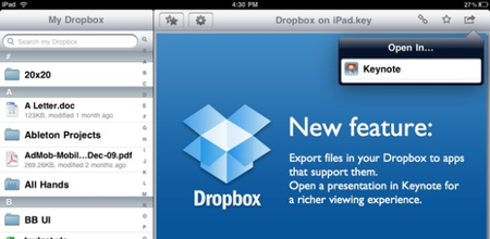 Dropbox releases Android and iPad apps