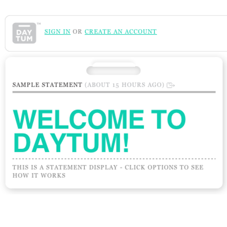 WEBSITE OF THE DAY - Daytum
