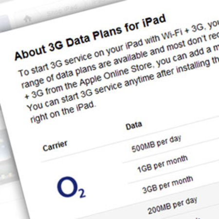 O2 and Vodafone's iPad data plans leaked