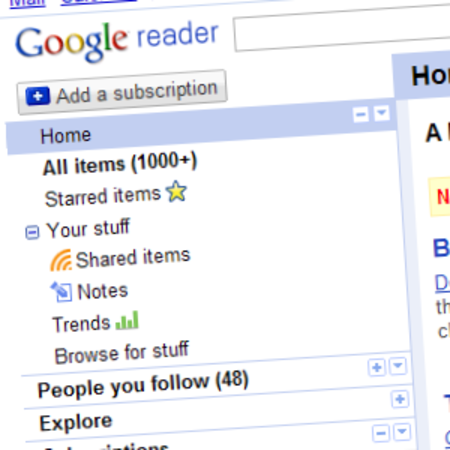 Google Reader gets tweaked