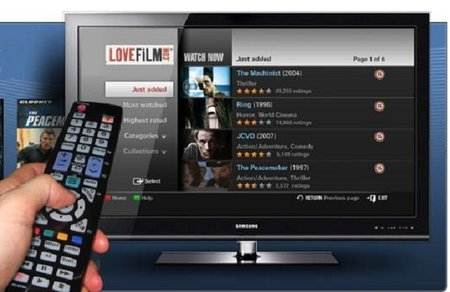 LOVEFiLM goes live on Samsung TVs