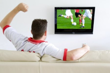 Watching the world cup on TV