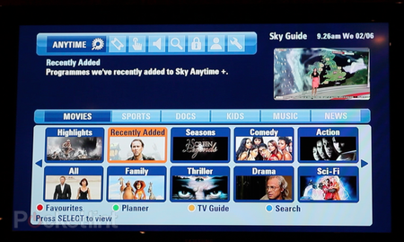 Sky Anytime Plus adds video on demand service to Sky HD - photo 2