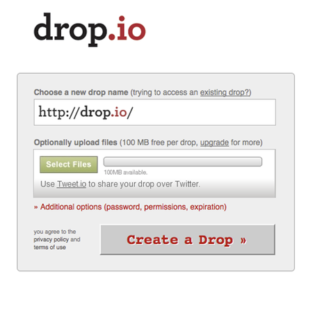 WEBSITE OF THE DAY – drop.io