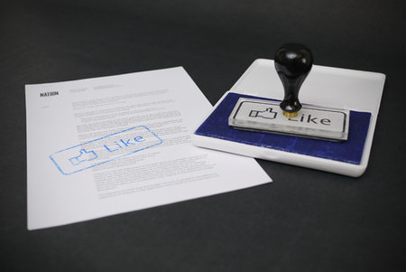 Facebook rubber stamp lets you Like real paperwork