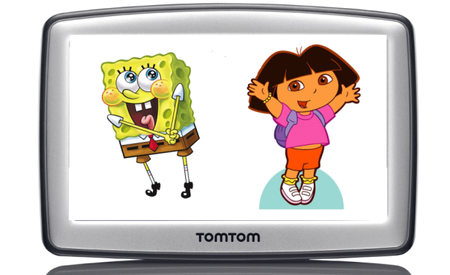 Dora and SpongeBob heading to your TomTom