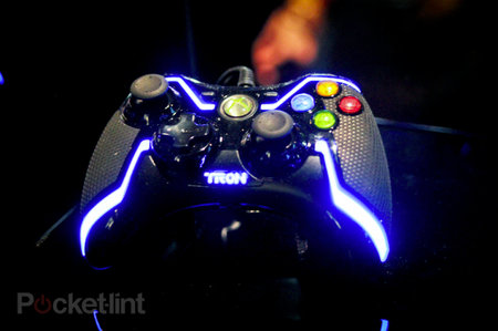 Tron glowing controllers to make you feel you're in the film