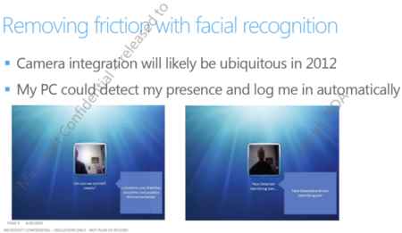 Face recognition login planned for Windows 8