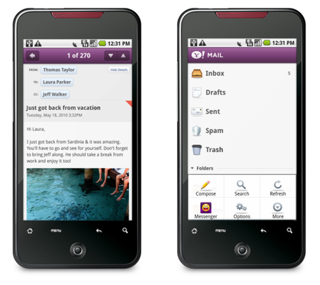Yahoo apps hit the Android marketplace