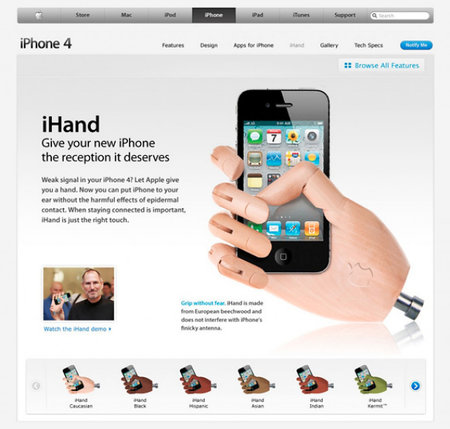 iHand - the perfect way to hold your iPhone 4