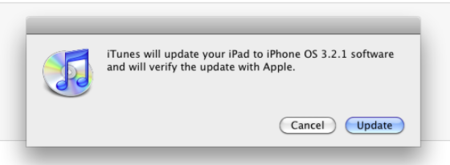 iPad 3.2.1 update hits iTunes