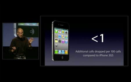 Apple Press Conference: iPhone 4 drops more calls than 3GS