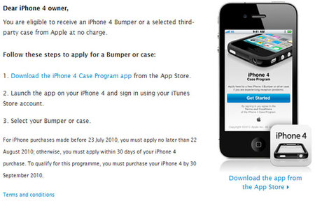 Apple free iPhone 4 bumper program now open in UK