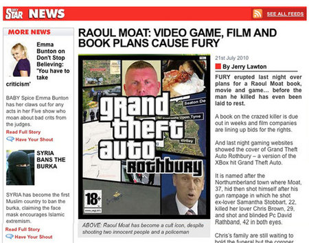 Daily Star apologises for Raoul Moat Grand Theft Auto cock-up