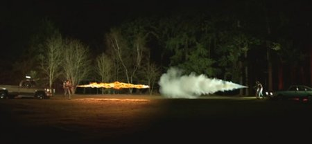 VIDEO: Flamethrower vs fire extinguisher at 1000 fps