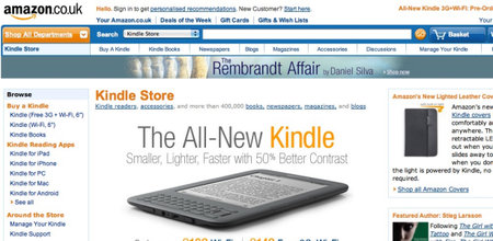 Amazon UK Kindle Store goes live