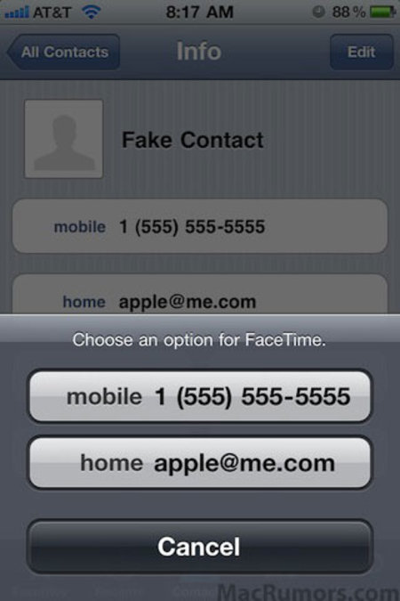 FaceTime gets email calling in latest iOS 4.1 build