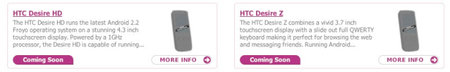 HTC Desire HD and Desire Z turn up on second shopping site in UK
