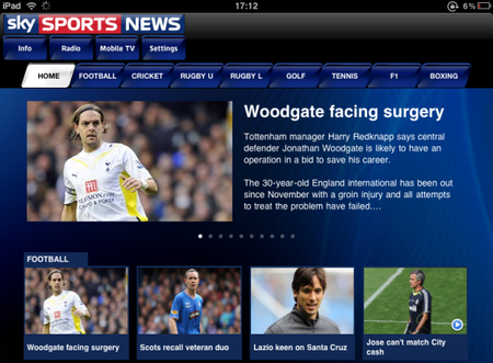 APP OF THE DAY: Sky Sports News (iPhone & iPad) - photo 2