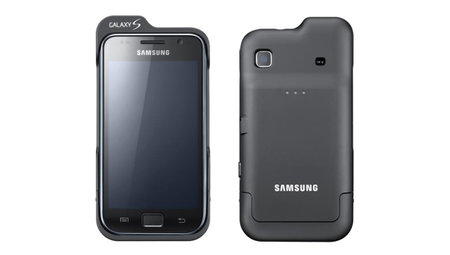 Bolt-on battery pack for Samsung Galaxy S adds 8 hours talk time