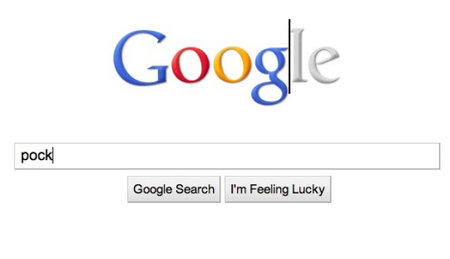 Google logo now grey, until you start typing