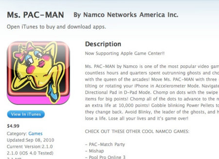 Apple Game Center goes live with single compatible game