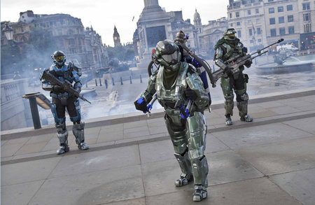 Spartan takes to the skies to celebrate launch of Halo: Reach
