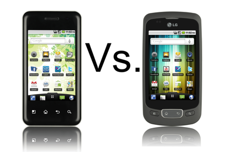 LG Optimus Chic vs LG Optimus One
