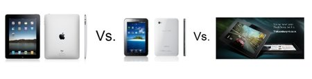 BlackBerry PlayBook vs Apple iPad vs Samsung Galaxy Tab
