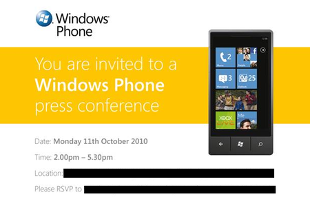 Windows Phone 7: Microsoft confirms 11 October launch