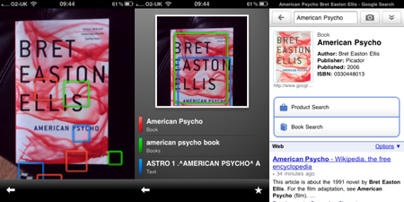 Google Goggles: Now viewing on the iPhone