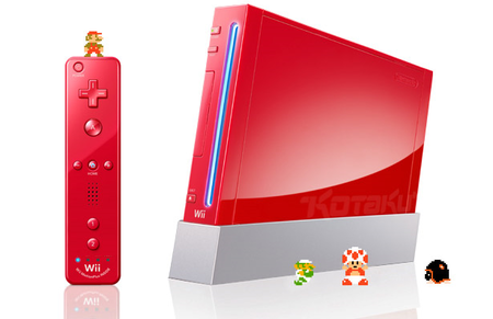 Nintendo Wii goes red for Super Mario Bros' 25th Birthday