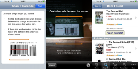 Amazon iPhone app adds barcode scanning