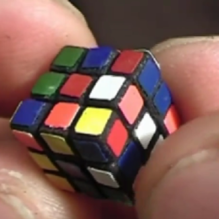 VIDEO: World's smallest Rubik's Cube