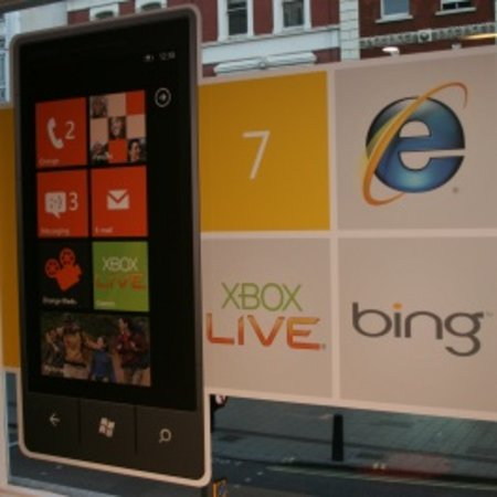 Windows Phone 7 launch: two people and a dog