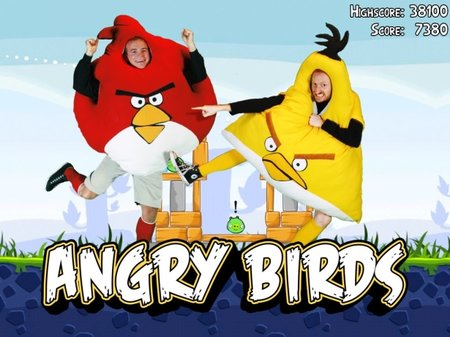 Full sized Angry Birds: The best Halloween costumes yet?