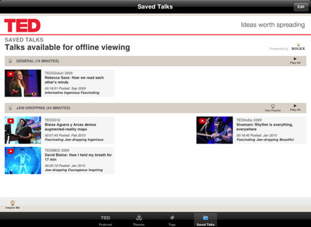 APP OF THE DAY: TED (iPad) - photo 3