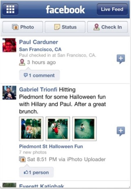New Facebook iPhone and Android apps go live