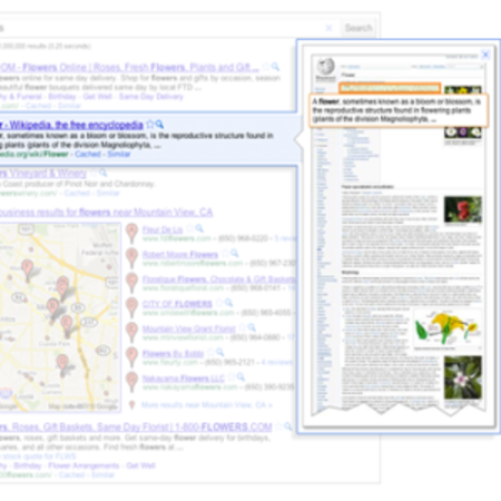 Google Instant Previews: A window to the world (wide web)