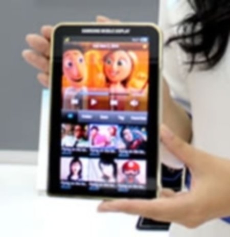 Next-gen Samsung Galaxy Tab with Super-AMOLED display on show