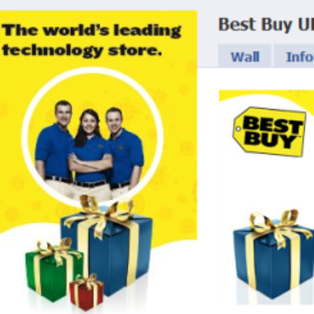 Best Buy Facebook shop open for business