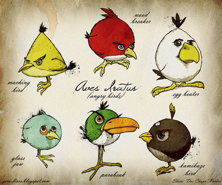 Angry Birds ornithological fan art would make cracking poster - photo 2