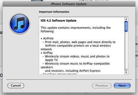 iOS 4.2 available to download