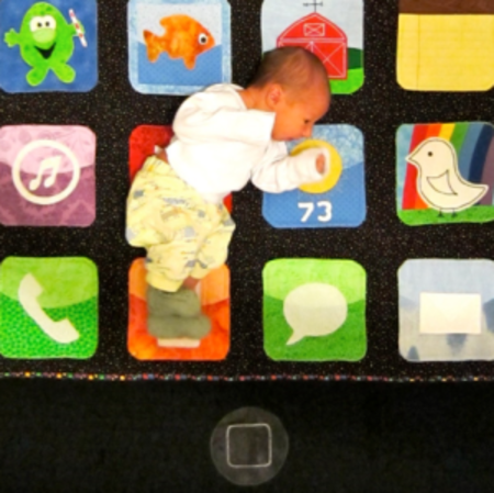 iPhone baby quilt: There's a nap for that