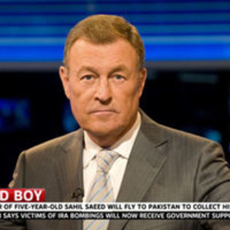 Sky News broadcasting from Sony Bravia